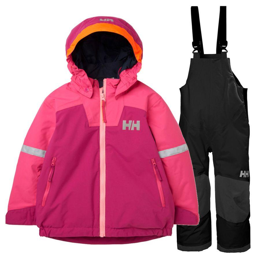 Helly Hansen Legend/Rider Bib skisæt, børn, rosa/sort