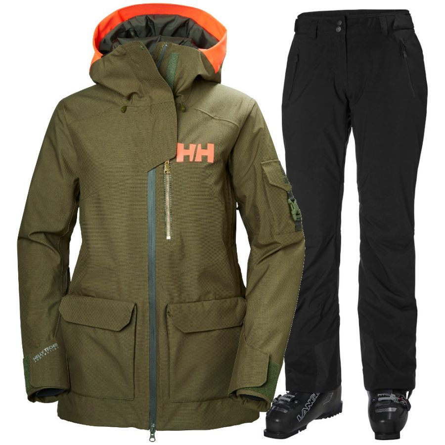 Helly Hansen Powderqueen 2.0/Legendary, Dame, Green/Black