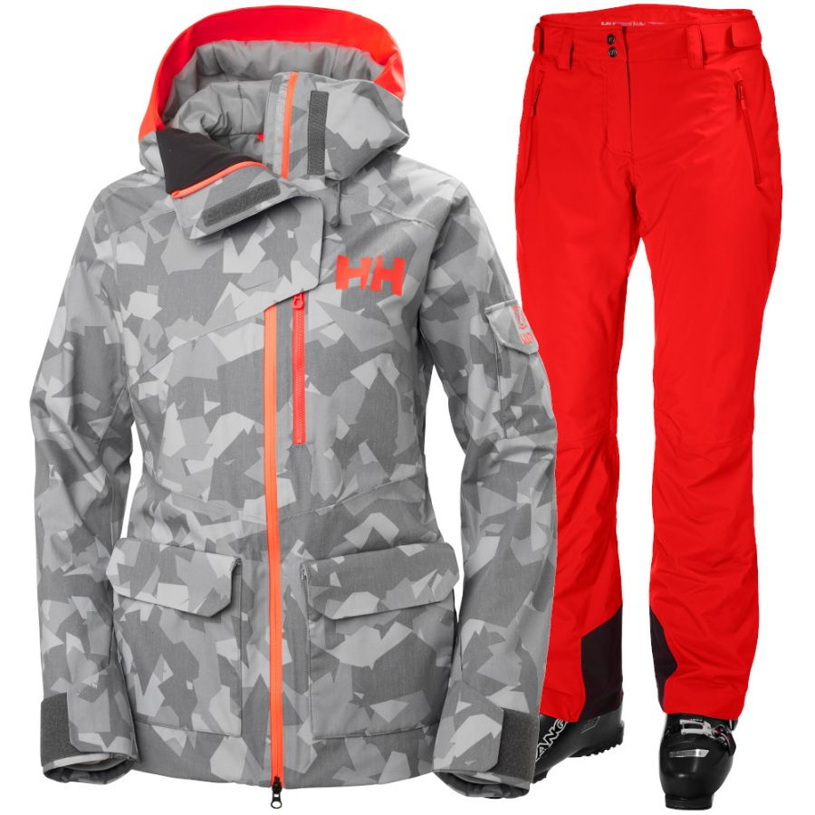 Helly Hansen Powderqueen 2.0/Legendary, Dame, Camo/Red