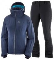 Salomon Brilliant/Icemania skisæt, dame, blå/sort