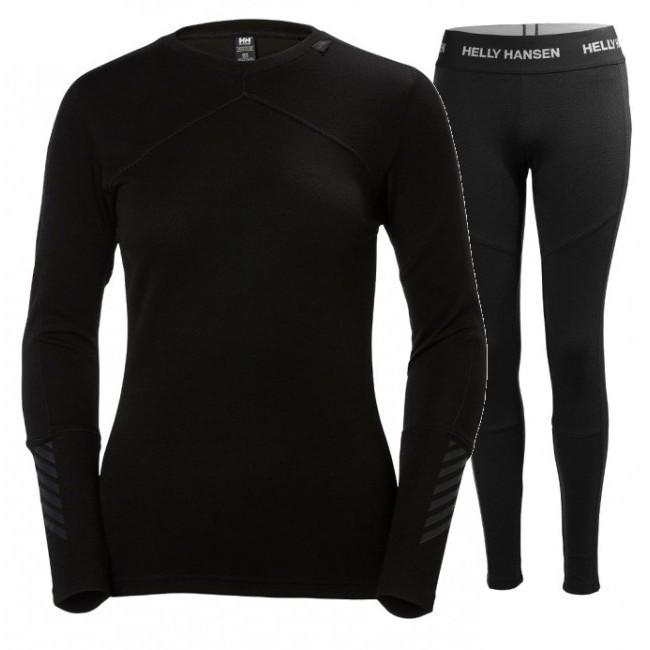 Helly Hansen Lifa Merino skiundertøj, sæt, dame, sort