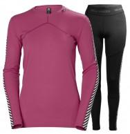 Helly Hansen Lifa skiundertøj, sæt, dame, pink/sort
