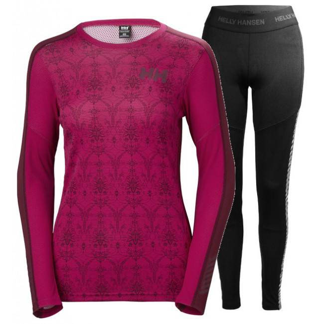 Helly Hansen Lifa Active Graphic, women, persian red/black