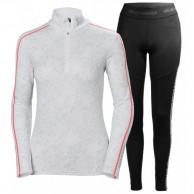 Helly Hansen Lifa Active Graphic 1/2 Zip skiundertøj, sæt, dame, hvid/sort