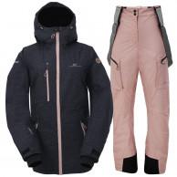 2117 of Sweden Lanna, skisæt, dame, sort/pink