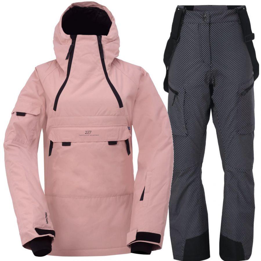 2117 of Sweden Liden/Lanna, Skisett, Dame, Pink/Grey