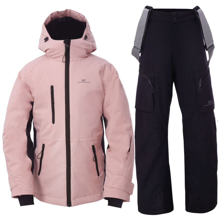 2117 of Sweden Knatten, Skisett, Junior, Pink/Black