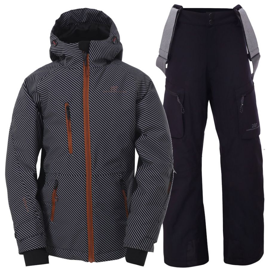 2117 of Sweden Knatten, Skisett, Junior, Grey/Black