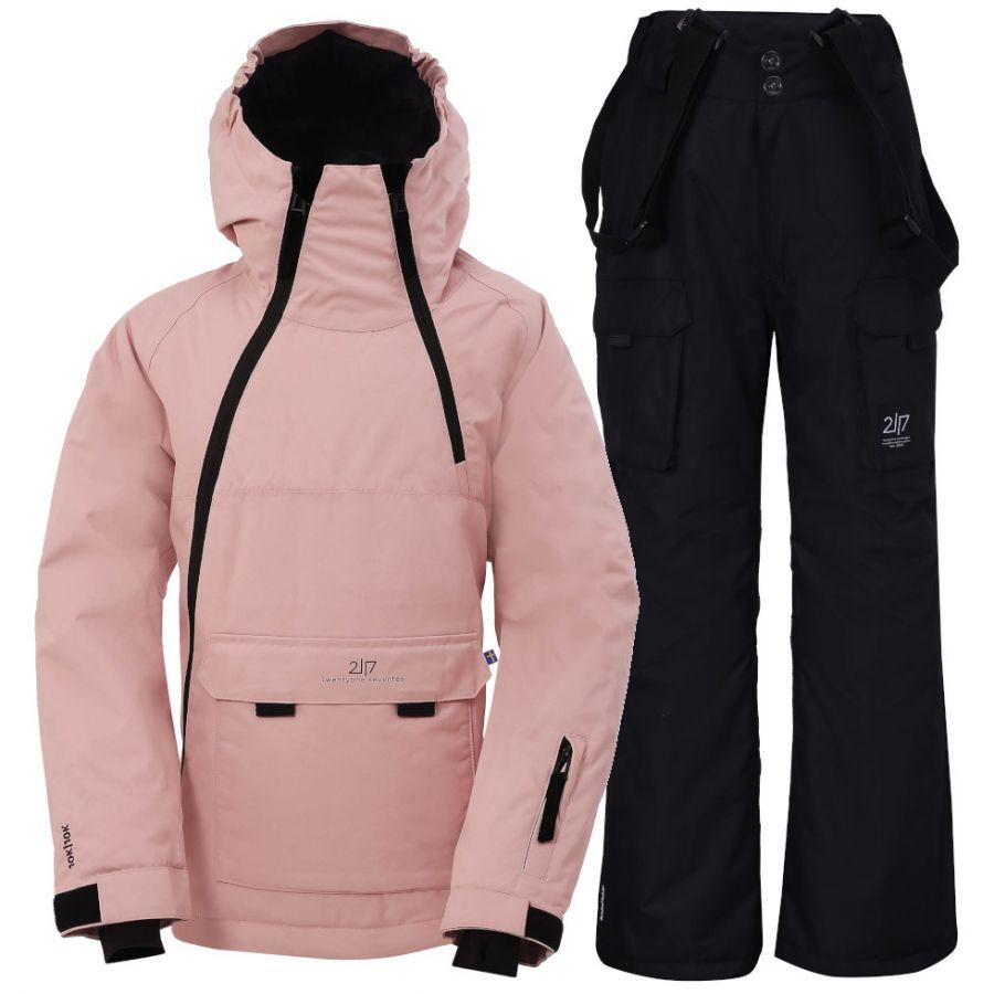 2117 of Sweden Lillhem, skisæt, junior, pink/sort