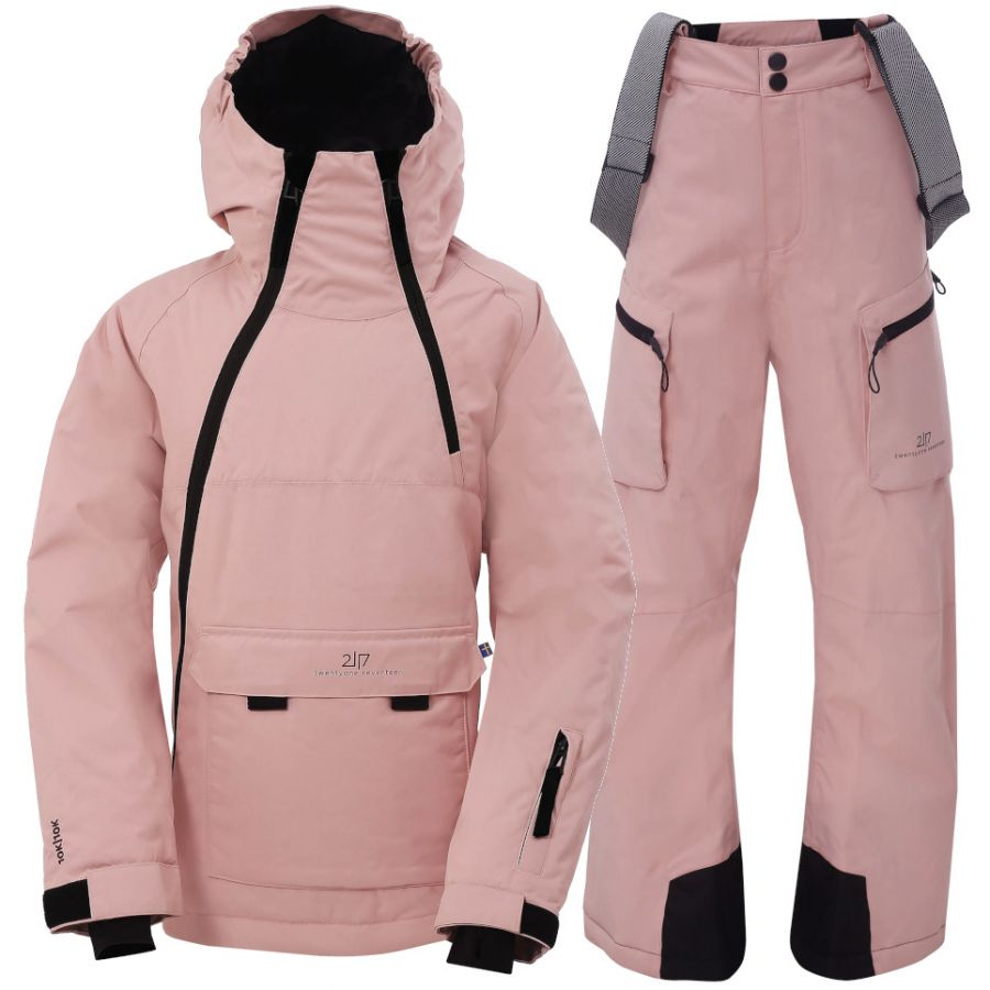 2117 of Sweden Lillhem/Knatten, Skisett, Junior, Pink
