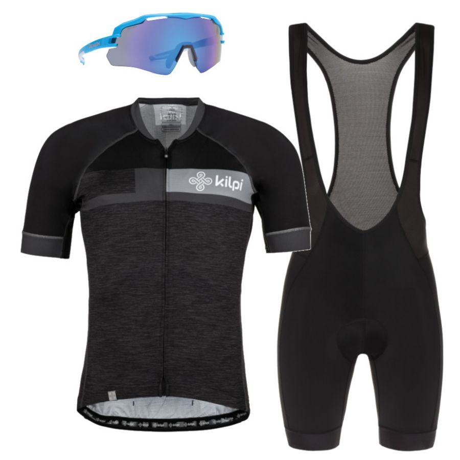 Kilpi Treviso/Rider/Imperial, cykelsæt, herre, grå/sort