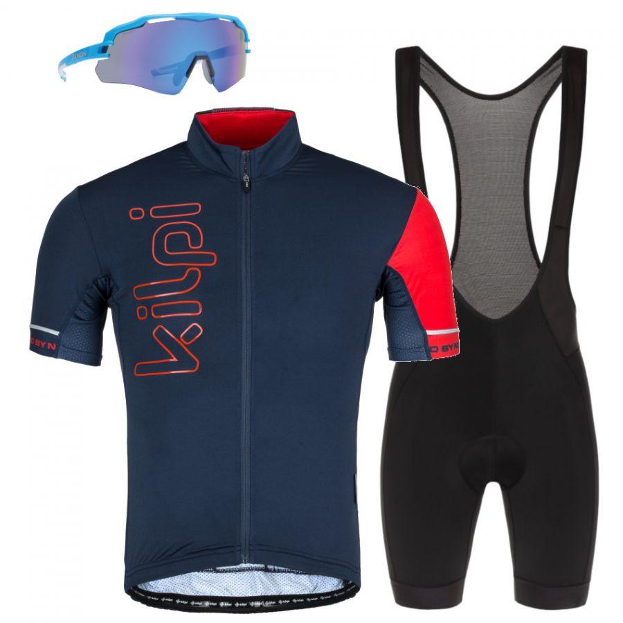 Kilpi Elyon/Rider/Imperial, cykelsæt, herre, blå/sort