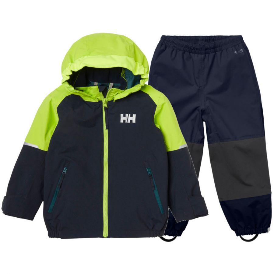Helly Hansen Shelter, regnsæt, børn, mørkeblå