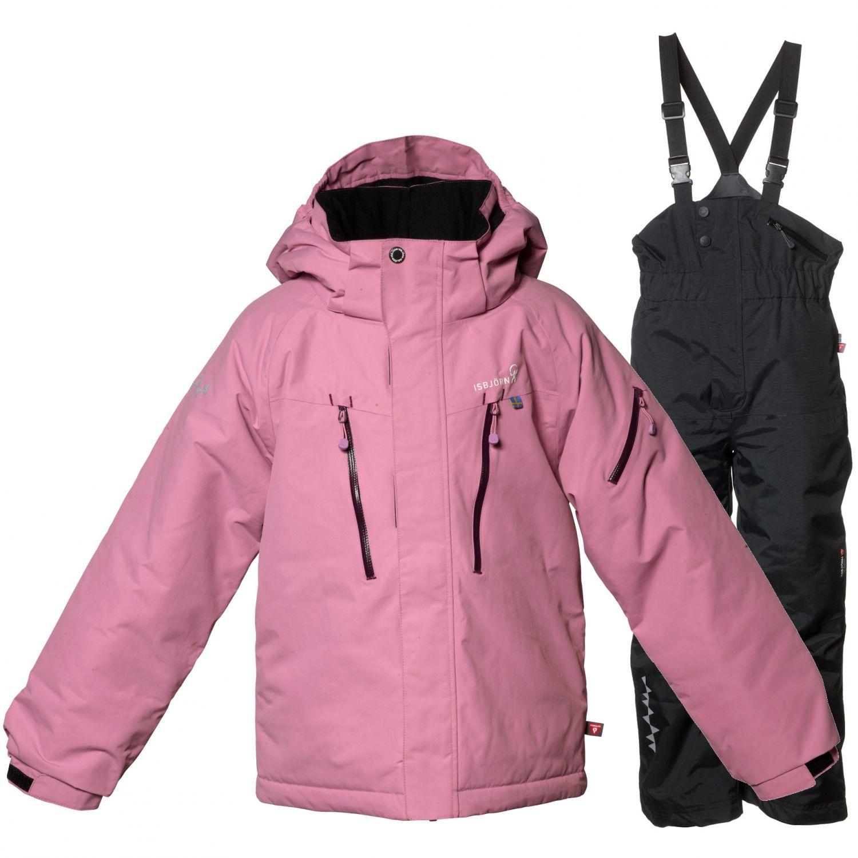 Isbjörn Helicopter/Powder skisæt, junior, dusty pink/sort