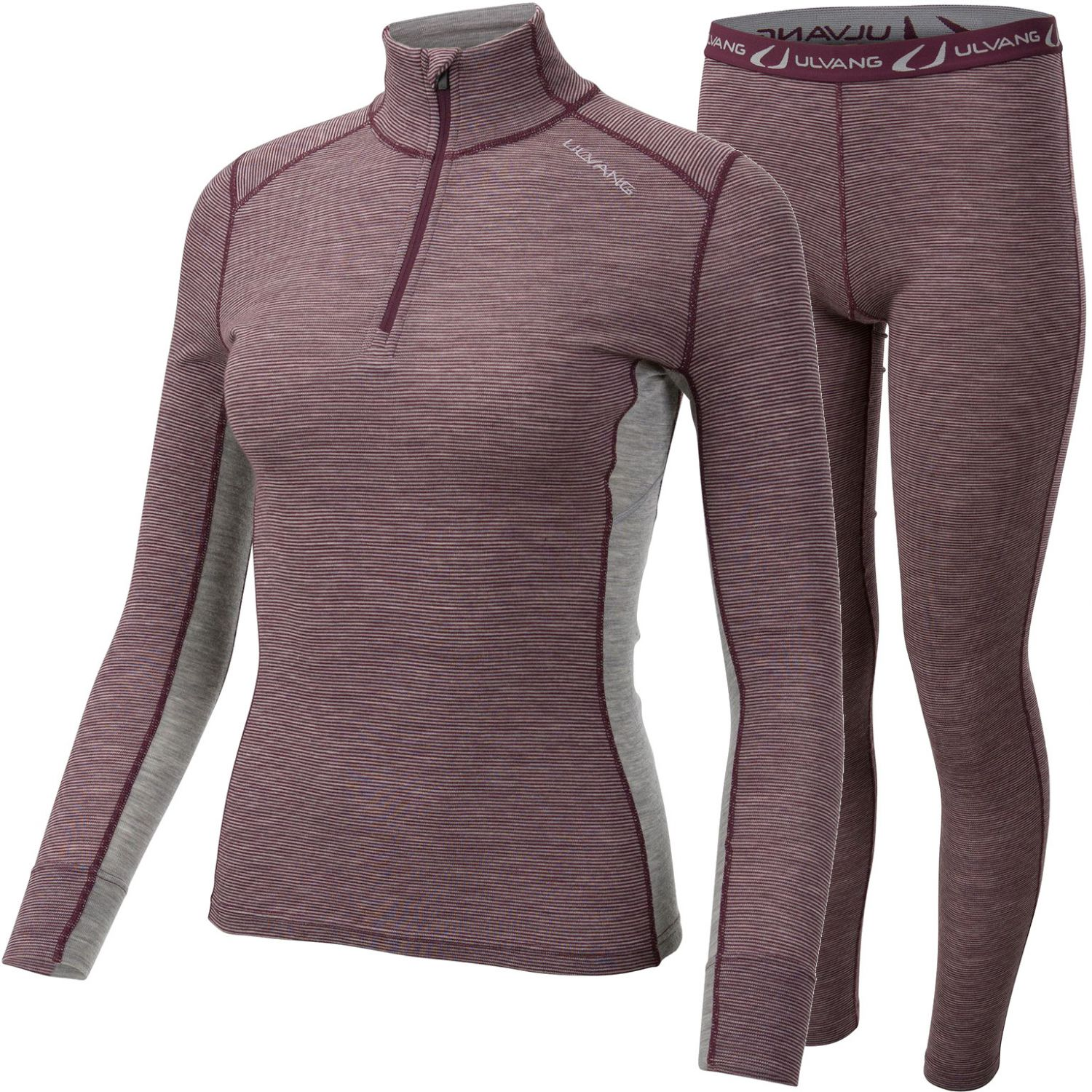 Ulvang Rav 100% Turtle Neck Set, Dam, Rosa