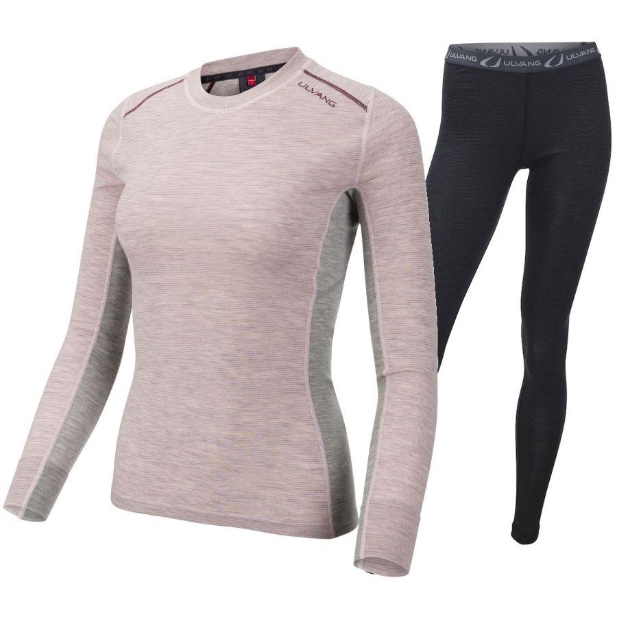 Ulvang Rav 100% round neck, woman, pink/black