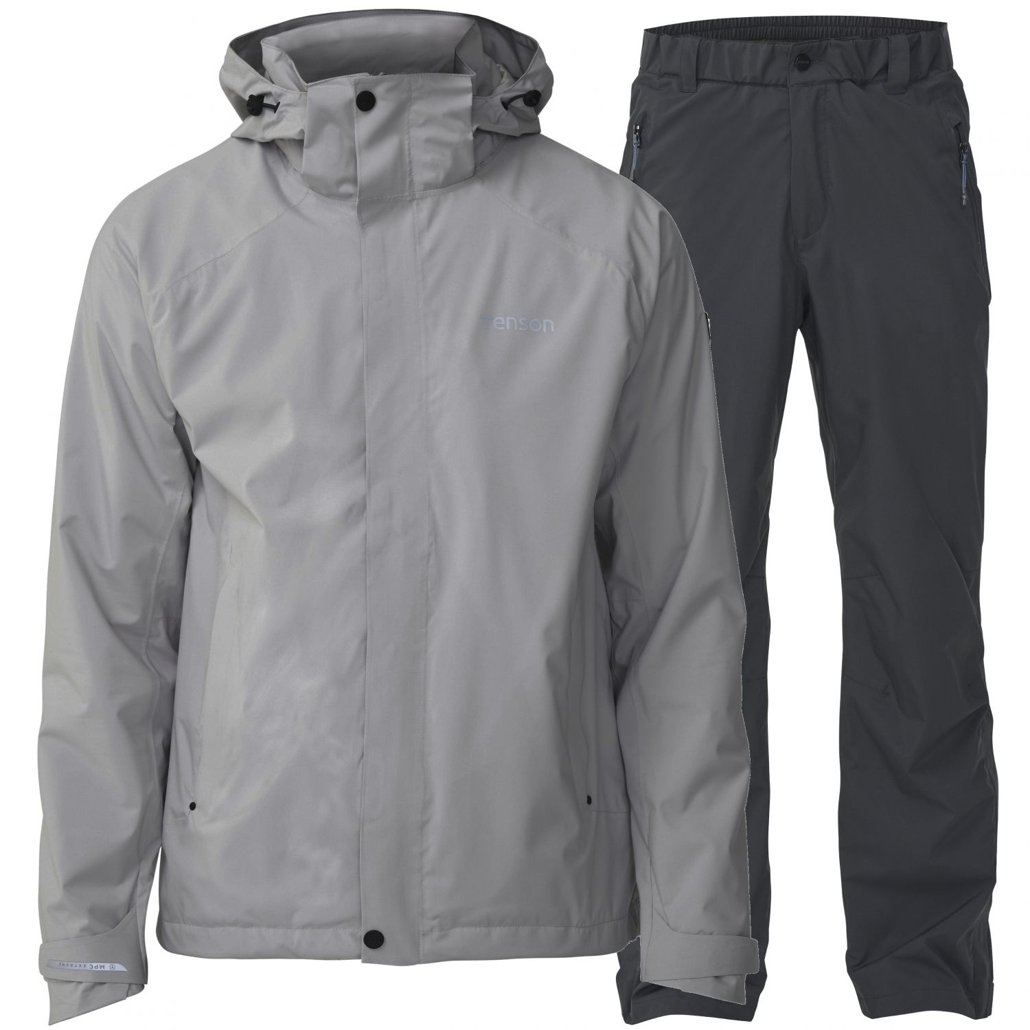 Tenson Biscaya Rain set, men, grey