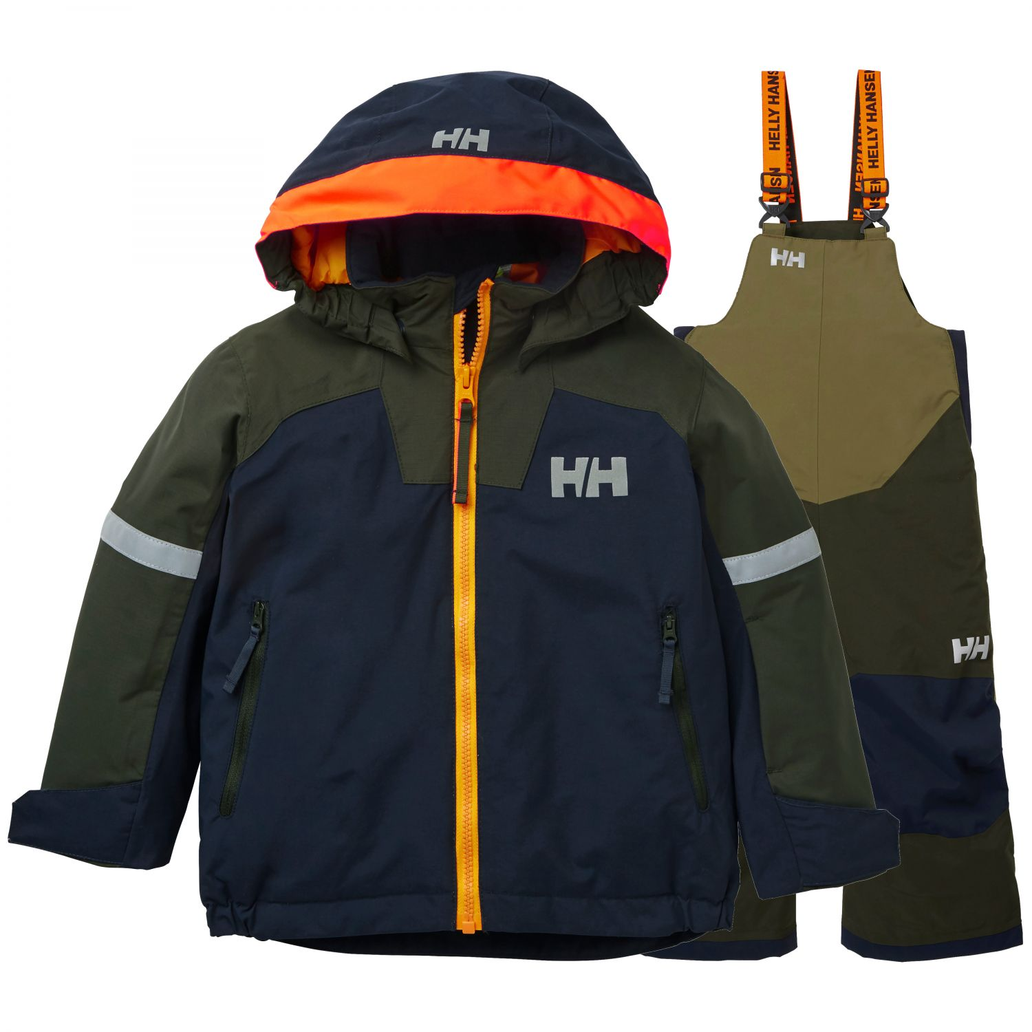 Helly Hansen Legend/Rider Bib, Navy/Grön