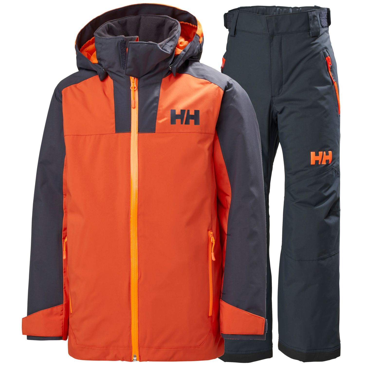 Helly Hansen Terrain/Legendary skisæt, børn, orange/blå