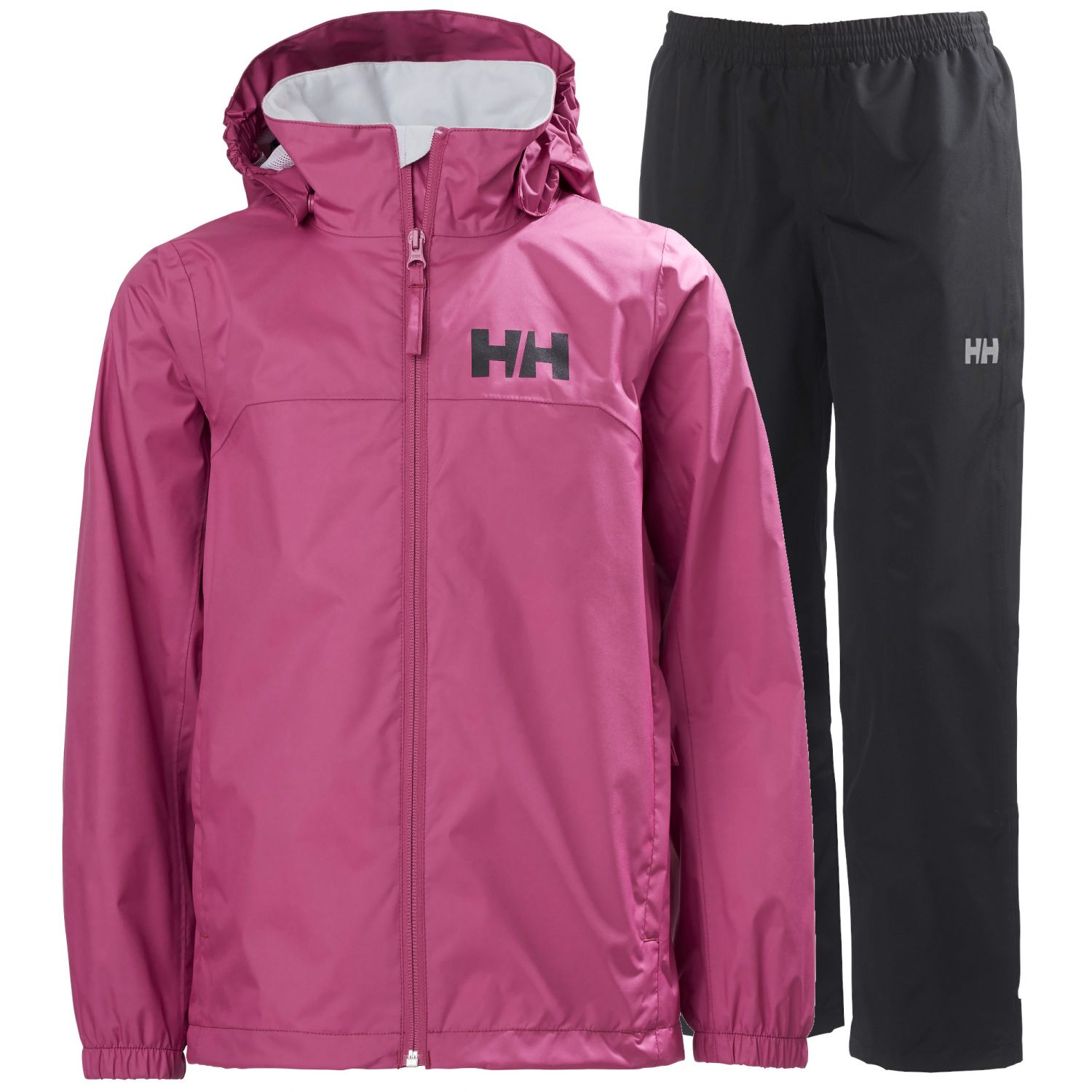 Helly Hansen Urban/Dubliner regnsæt, junior, lilla/sort