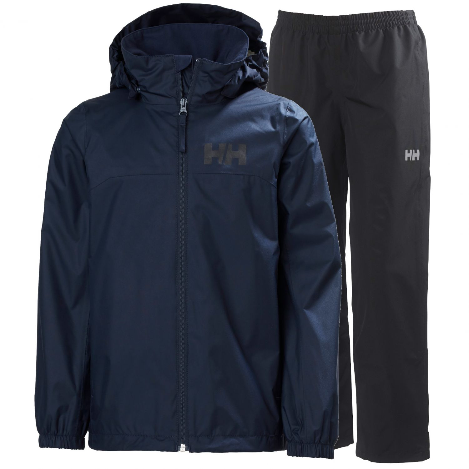 Helly Hansen Urban/Dubliner regnsæt, junior, navy/sort