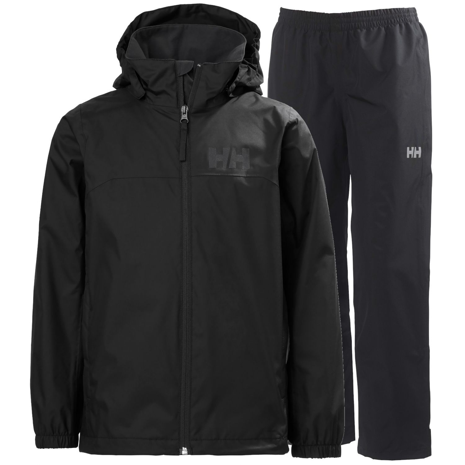 Helly Hansen Urban/Dubliner regnsæt, junior, sort