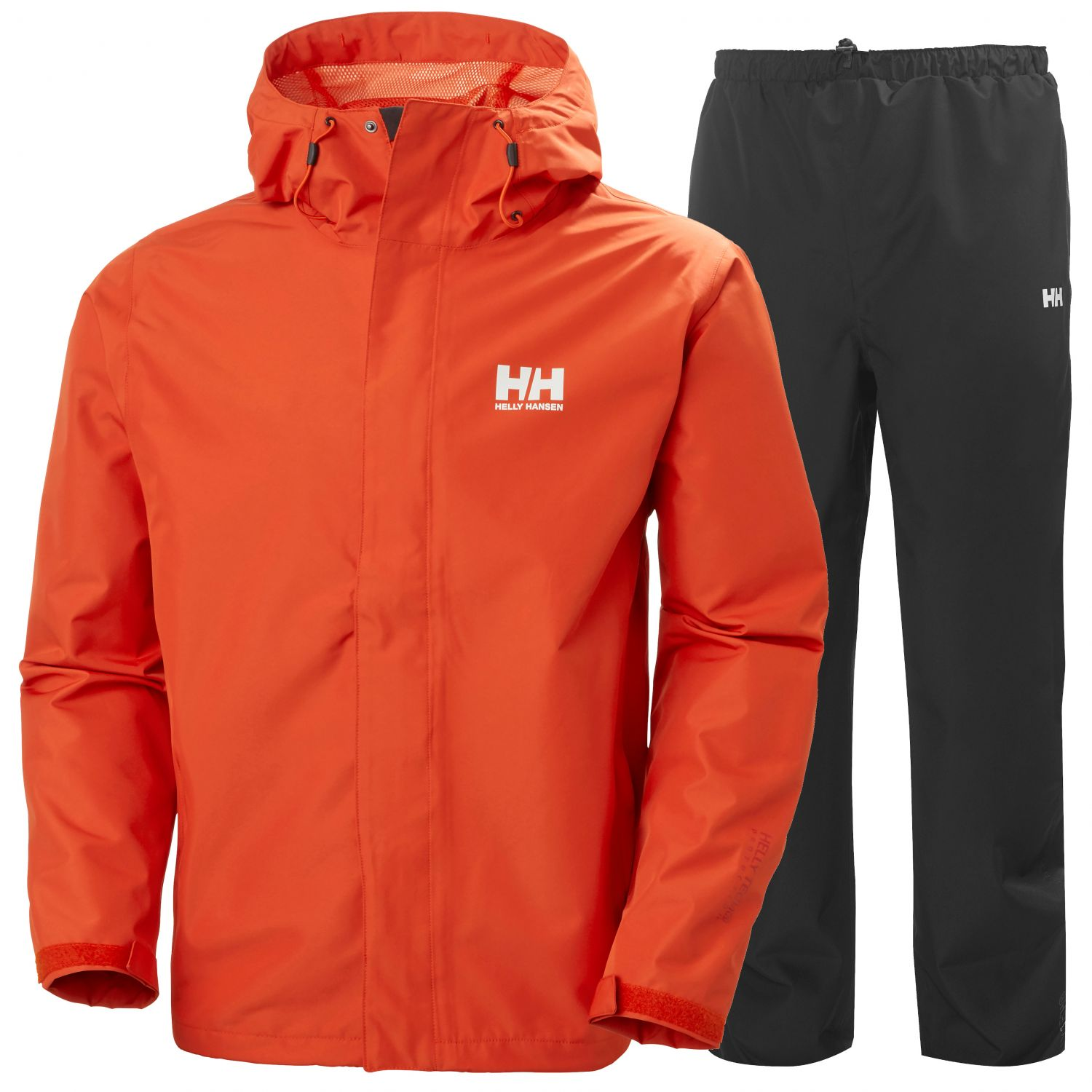 Helly Hansen Seven J, Regntøy, Herre, Orange/Black