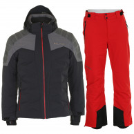 DIEL Melvin/Pepe, skisæt, herre, sort/rød