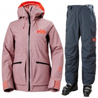 Helly Hansen Powderqueen 3.0/Switch Cargo Insulated, dame, rosa/grå