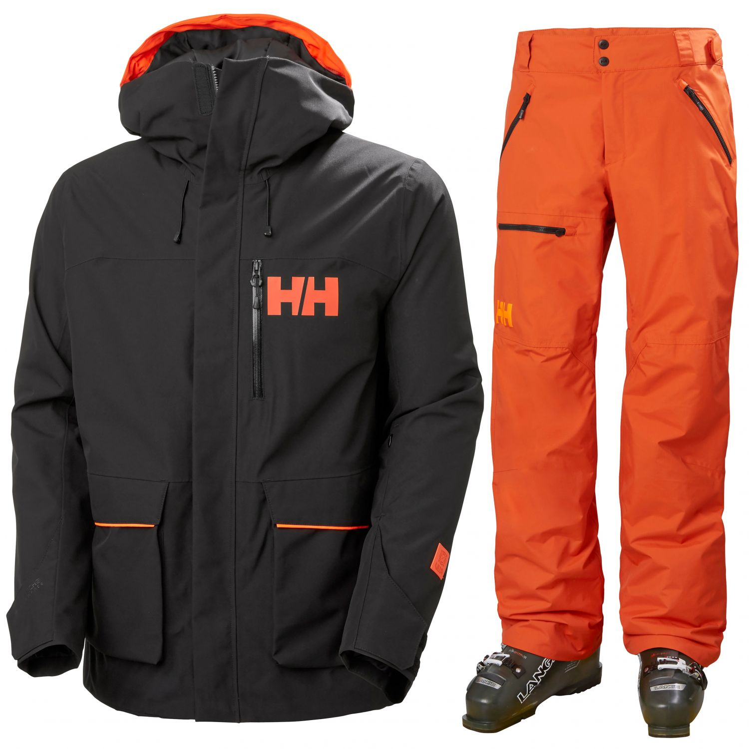 Helly Hansen Kickinghorse/Sogn Cargo, Herr, Svart/Orange