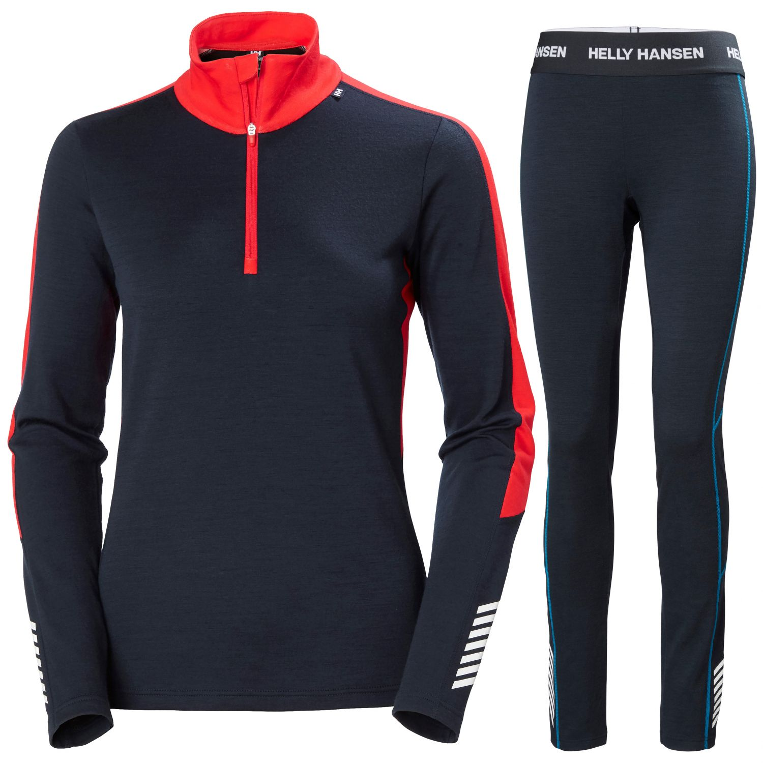 Helly Hansen Lifa Merino Lightweight 1/2 zip, women, navy