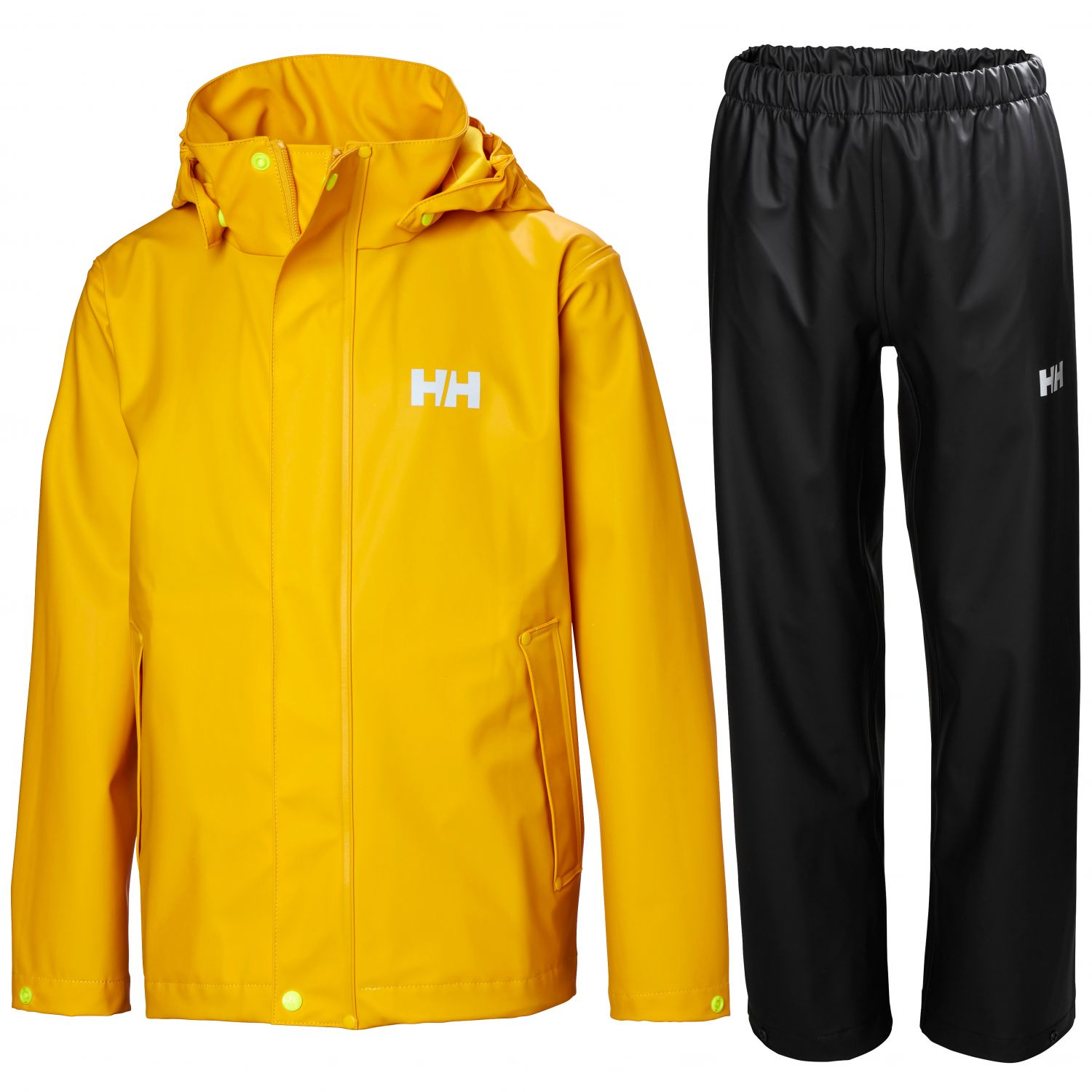 Helly Hansen Moss regnsæt, junior, gul/sort