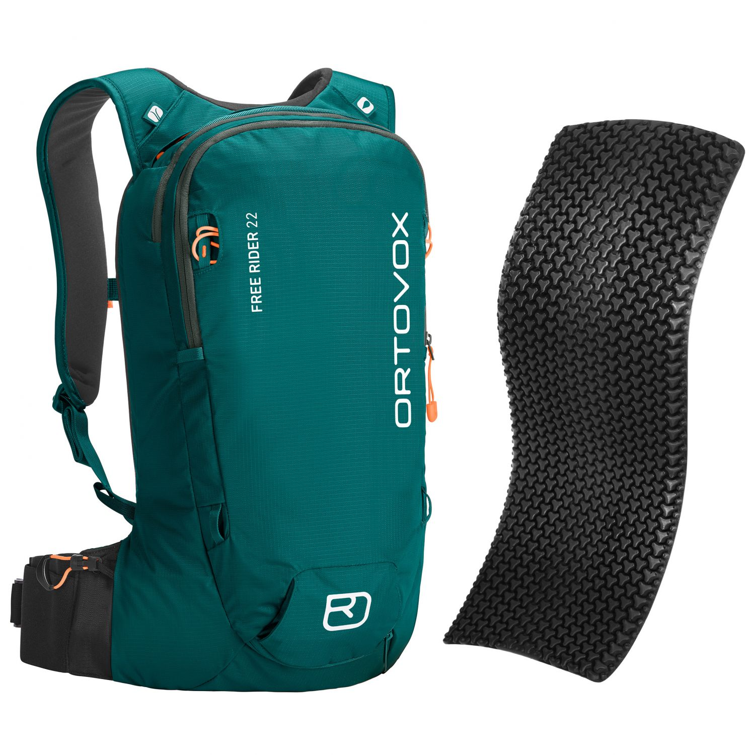 Ortovox Free Rider 22 + Spine Protector, pacific green