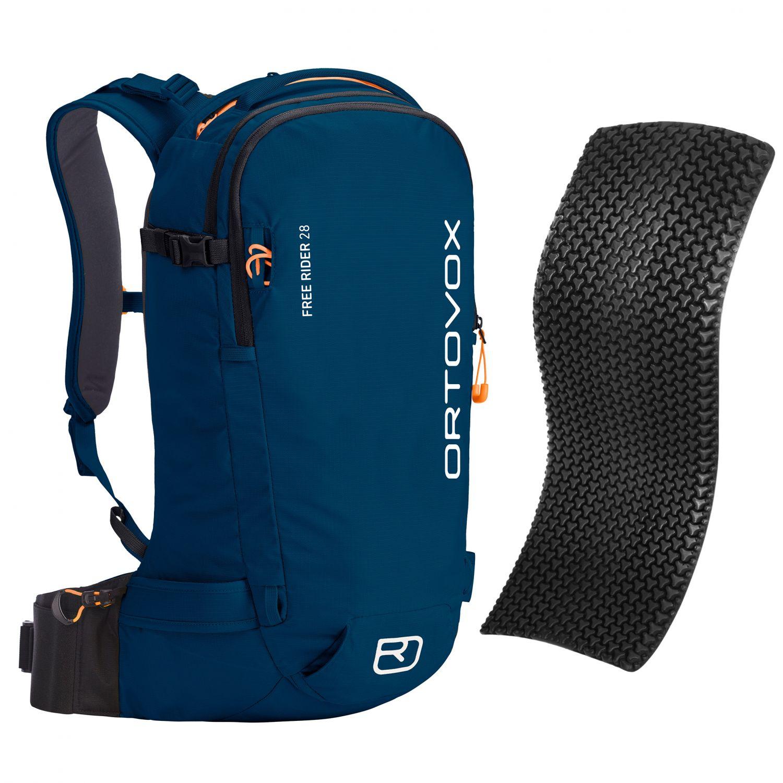 Ortovox Free Rider 28 + Spine Protector, petrol blue