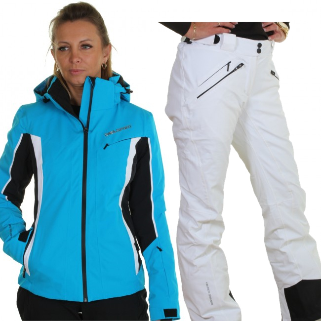 DIEL Crans-Montana/Val Gardena skisæt, dame, blå/hvid