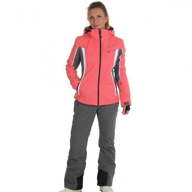 DIEL Crans-Montana/Val Gardena skisæt, dame, peach/grå