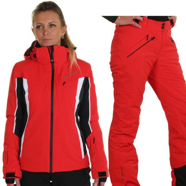 DIEL Crans-Montana/Val Gardena skisæt, dame, rød
