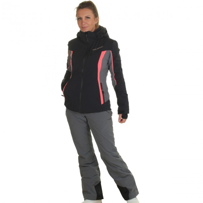 DIEL Crans-Montana/Val Gardena skisæt, dame, sort/grå