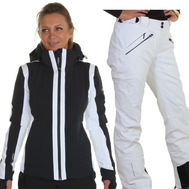 DIEL Cortina/Val Gardena skisæt, dame, sort/hvid