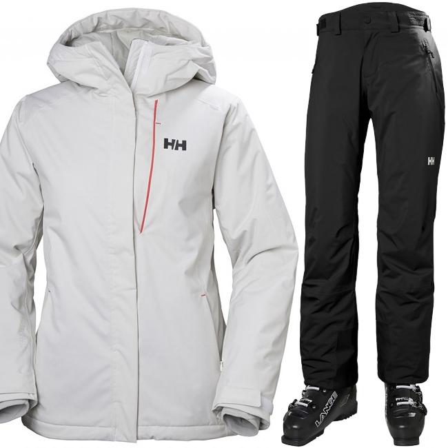 Helly Hansen W Snowstar skidset, dam, white/black