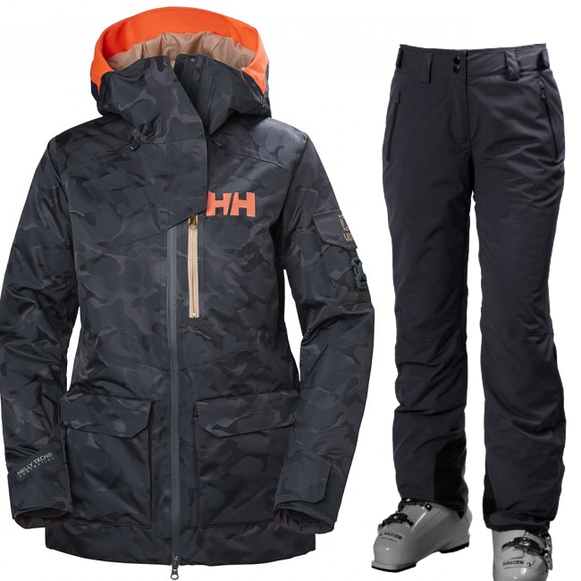 Helly Hansen W Powderqueen 2.0/Legendary skisæt, dame, blue
