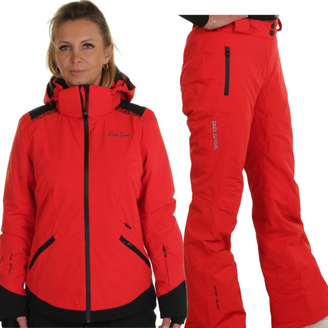 DIEL Zermatt/Livigno skidset, dam, röd