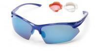Demon Warrior cykelsolbriller, m. 3 sæt linser, blå