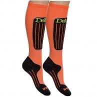 Deluni skistrømper, 2 par, orange