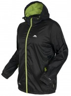 Trespass Qikpac Regnjakke, unisex, sort