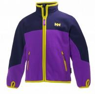 Helly Hansen K Fleece Jacket til  børn og junior, lilla/blå