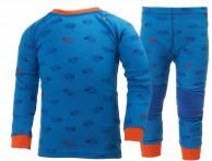 Helly Hansen K Warm, skiundertøj, sæt, blå med print