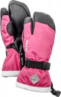 Hestra Gauntlet 3-finger junior skihandske, pink