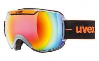 Uvex Downhill 2000, skibriller, full mirror, sort/orange