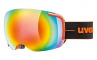 Uvex Big 40, skibriller, full mirror, orange